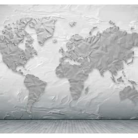 Фотообои 3D Flizart «Объемная карта», флизелиновые, 300x280 см