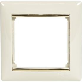Рамка для розеток и выключателей Legrand Valena 1 пост, цвет слоновая кость/золотой шёлк