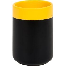 Стакан для зубныx щеток Keila керамика чёрный /жёлтый