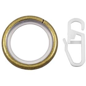 Кольцо с крючком металл цвет золото антик, 2 см, 10 шт.