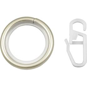 Кольцо с крючком металл цвет сталь матовая, 2 см, 10 шт.