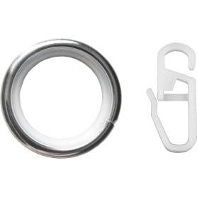 Кольцо с крючком металл цвет хром, 2 см, 10 шт.