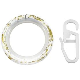 Кольцо с крючком металл цвет белый антик, 2 см, 10 шт.