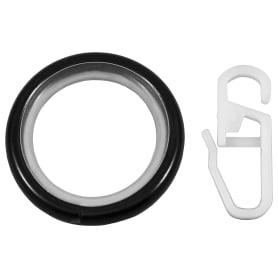Кольцо с крючком металл цвет чёрный, 2 см, 10 шт.