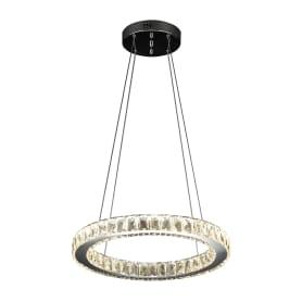 Люстра хрустальная подвесная «Нортон» 90023/1 с пультом управления, 1 лампа, 11 м², цвет хром/прозрачный