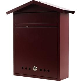 Почтовый ящик «Дачный», нержавеющая сталь, цвет бордовый