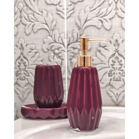 Диспенсер для жидкого мыла Purple, керамика, цвет фиолетовый