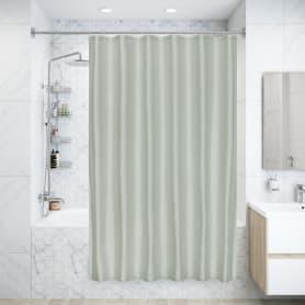 Штора для ванны Forest 180x200 см, полиэстер, цвет серебряный
