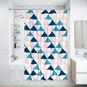 Штора для ванны Simple 180x200 см, полиэстер, цвет серебряный