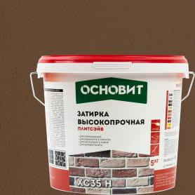 Затирка цементная Основит Плитсейв 5 кг цвет коричневый