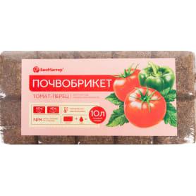 Почвобрикет БиоМастер Томат и перец, 10 л