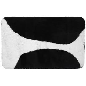 Коврик для ванной комнаты Bim 60х90 см чёрный/белый