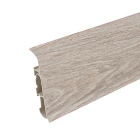 Плинтус напольный «Дуб белёный», высота 80 мм, длина 2.2 м