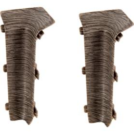 Угол для плинтуса внутренний «Дуб макао», высота 80 мм, 2 шт.