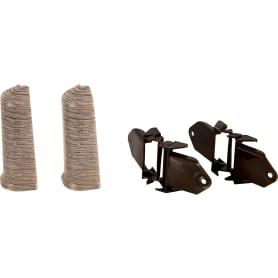 Угол для плинтуса внешний «Дуб макао», высота 80 мм, 2 шт.