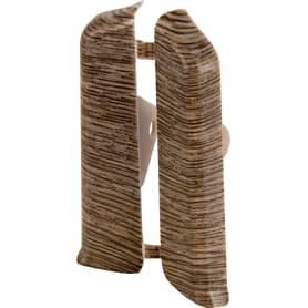 Заглушка для плинтуса левая и правая «Дуб макао», высота 80 мм