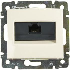 Розетка компьютерная встраиваемая Legrand Valena RJ45, UTP cat 5, цвет слоновая кость