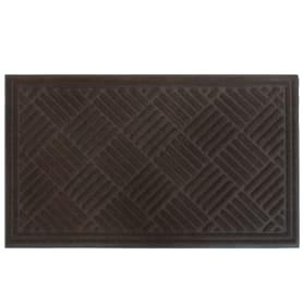 Коврик Hayden 45x75 см, полиэстер на резине, цвет коричневый