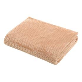Плед «Велсофт», 150x200 см, полиэстер, цвет коричневый
