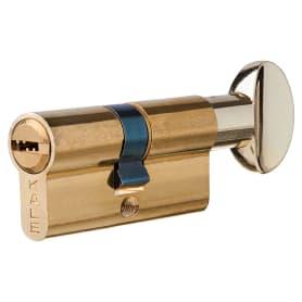 Цилиндр Kale 164BM-62-C-BP, 26х26 мм, ключ/вертушка, цвет золото