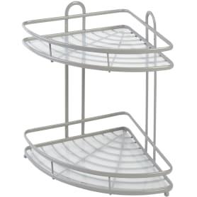 Полка для ванной комнаты Termo SWR-1003 двухъярусная угловая, металл, цвет серый