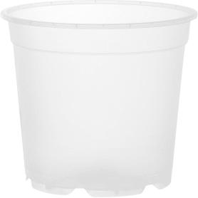Горшок цветочный D19, 3л., пластик, Белый, Бесцветный / прозрачный