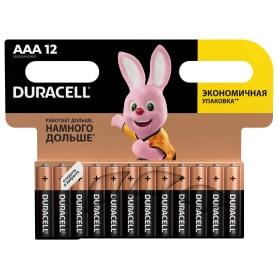 Батарейка алкалиновая Duracell AAA, 12 шт.