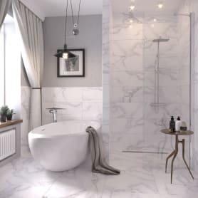 Керамогранит «Grata White» PG01 60x30 см 1.44 м² цвет серый