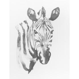 Картина на холсте «Зебра» белый фон 30х40 см
