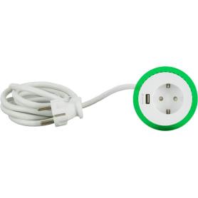 Блок с розеткой и USB Schneider Unica System цвет белый