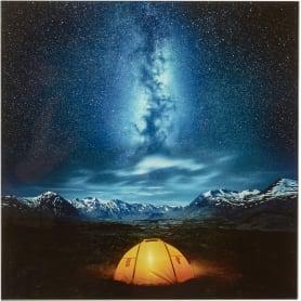 Картина на стекле «Ночь в пустыне» 30х30 см