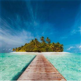 Картина на стекле «Остров» 30х30 см