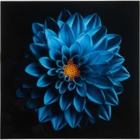 Картина на стекле «Синий цветок» 30х30 см