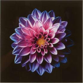 Картина на стекле «Розовый цветок» 30х30 см