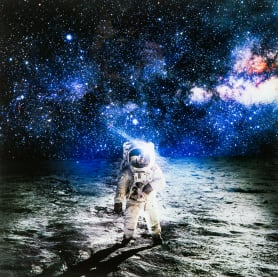 Картина на стекле «Космонавт» 40х40 см