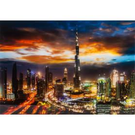 Картина на стекле «Ночной город» 50х70 см