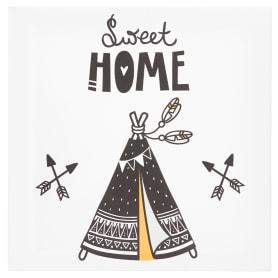 Картина на холсте «Милый дом» 30x30 см