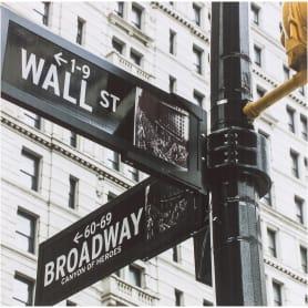 Картина на холсте «Бродвей указатель» 30x30 см