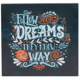 Картина на холсте «Следуй за мечтой» 30x30 см