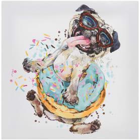 Картина на холсте «Собачка в очках» 30x30 см