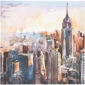 Картина на холсте «Небоскребы» 30x30 см