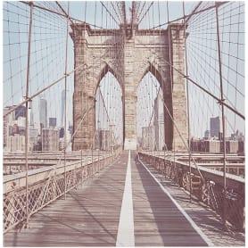 Картина на холсте «Бруклинский мост» 30x30 см