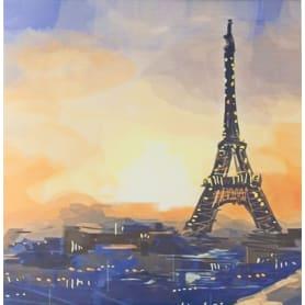 Картина на холсте «Эйфелева башня» 30x30 см