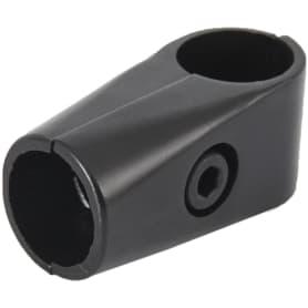 Соединитель для штанг Т-образный 25 мм цвет чёрный