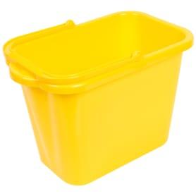 Ведро прямоугольное 9.5 л пластик цвет жёлтый