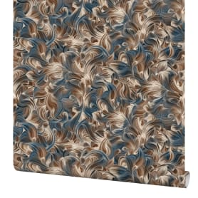 Обои флизелиновые Elysium Эбру сине-золотые 1.06 м 78207