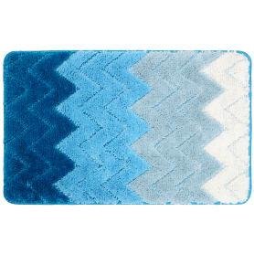 Коврик для ванной комнаты Deep 50x80 см цвет голубой