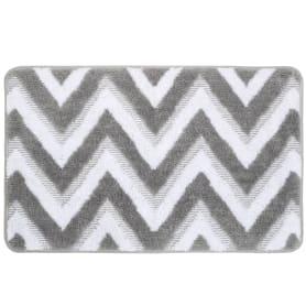Коврик для ванной комнаты River 50x80 см цвет серый