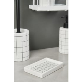 Мыльница La Scuola керамика цвет белый