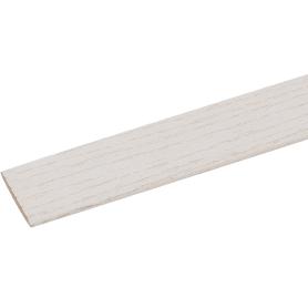 Планка завершающая 3x26x2600 мм МДФ цвет ясень белый